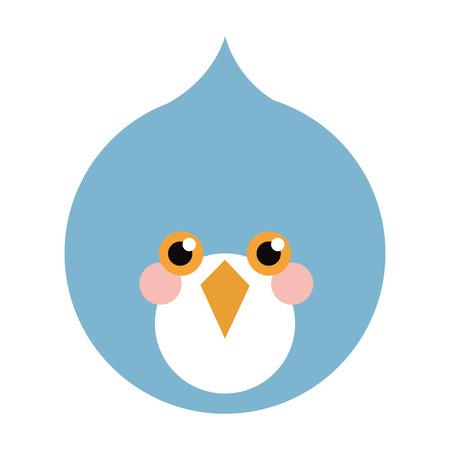 tweeter: blue bird flat icon isolated vector illustration Illustration