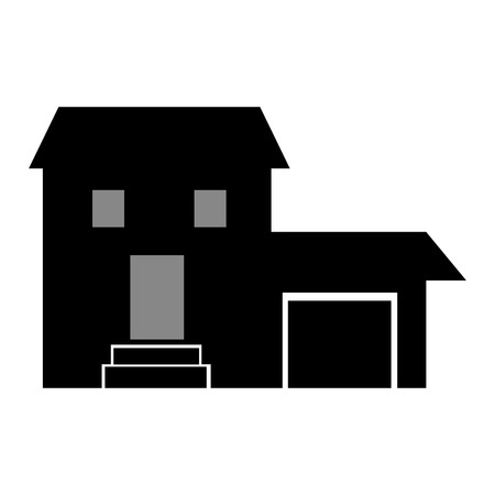 house construction: House construction real estate icon isolated vector illustration Illustration