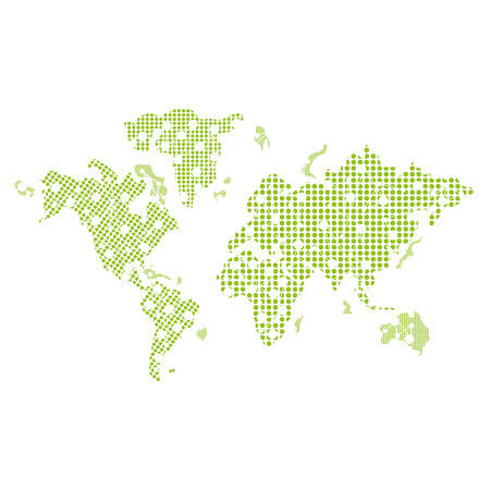 the settlement: flat design world map icon vector illustration Illustration
