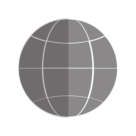 meridians: flat design earth glove with latitudes and meridians icon vector illustration