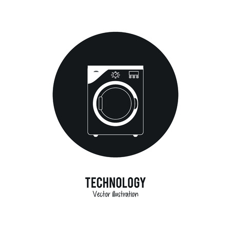 washer machine: Internet of things concept represented by washer machine icon. Isolated and flat illustration.