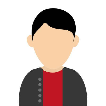 faceless: simple flat design faceless man wearing casual clothes portrait icon vector illustration