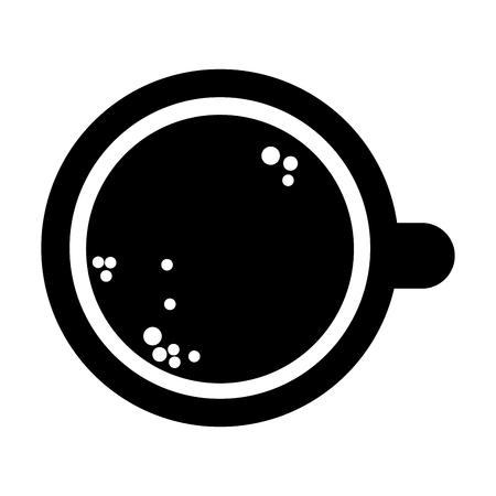 stimulate: flat design coffee cup topview icon vector illustration Illustration