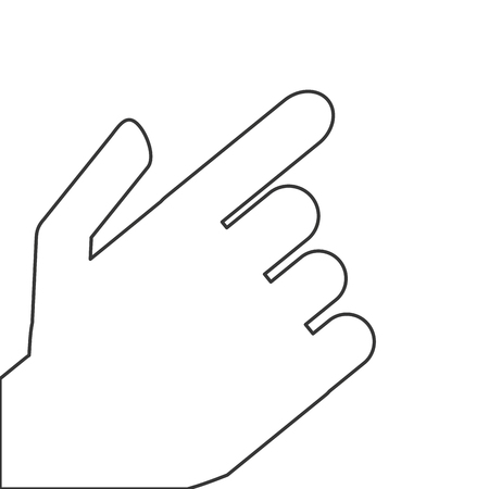 ring finger: flat design hand pointing with index finger icon vector illustration