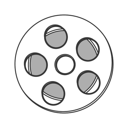 capturing: flat design film reel icon vector illustration