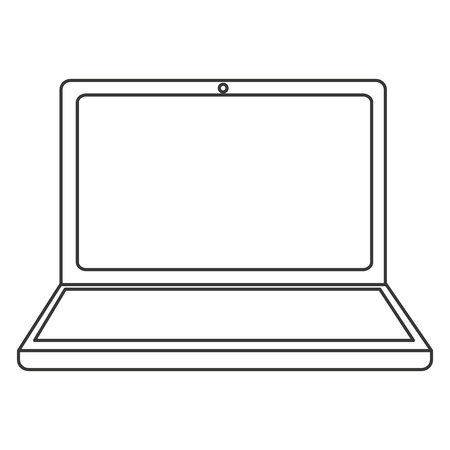 respond: flat design laptop frontview icon vector illustration