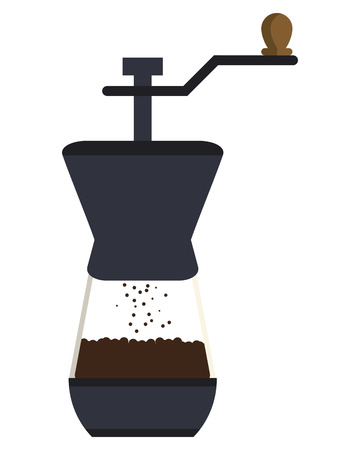 flat design french coffee press icon vector illustration Illustration