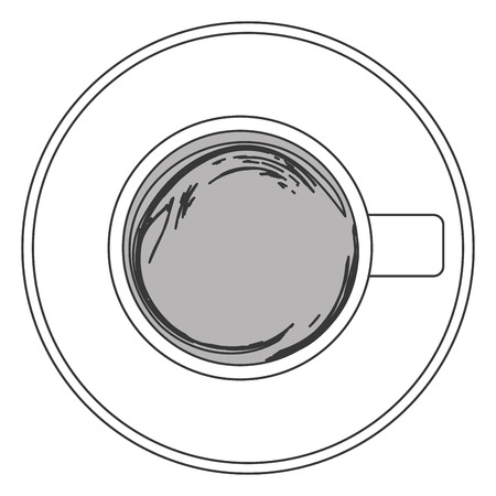 coffe break: flat design coffee cup topview icon vector illustration Illustration