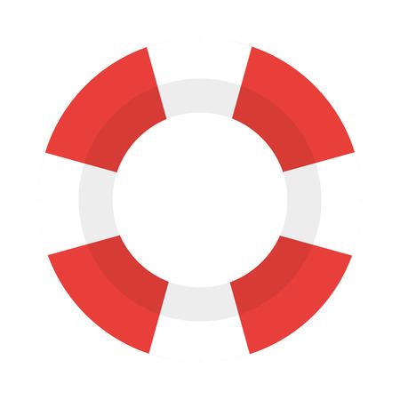 illustration vectorielle de design plat gilet de sauvetage icône Vecteurs