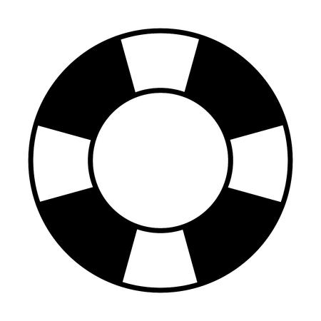 flat design life preserver icon vector illustration 矢量图像
