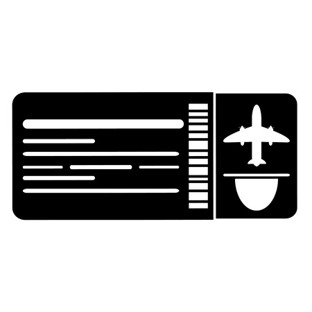 flat design airplane ticket icon vector illustration