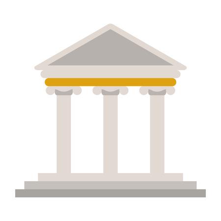 design plat ancien bâtiment grec icône illustration vectorielle