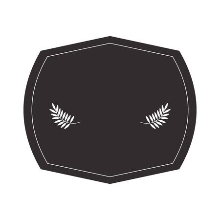 flat design laurel wreath icon vector illustration