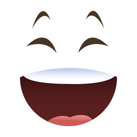flat design laughing emoticon face icons vector illustration Vektoros illusztráció