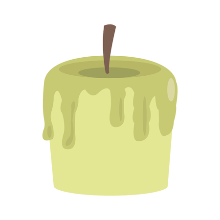 flat design single candle icon vector illustration 向量圖像