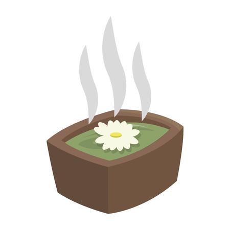 platte ontwerp spa hot tub pictogram vectorillustratie