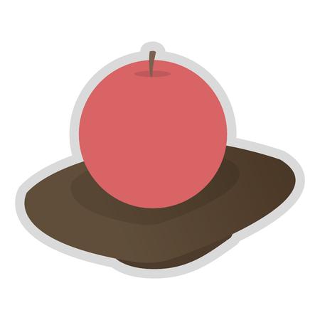 flat design single candle icon vector illustration Illustration
