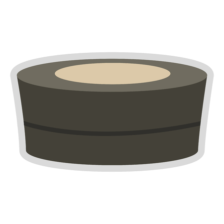 flat design spa hot tub icon vector illustration