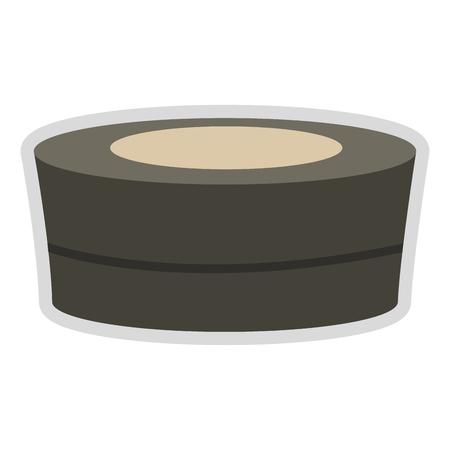platte ontwerp spa hot tub pictogram vectorillustratie Vector Illustratie