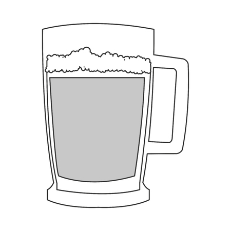 flat design green beer icon vector illustration