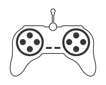 flat design game controller icon vector illustration Illustration