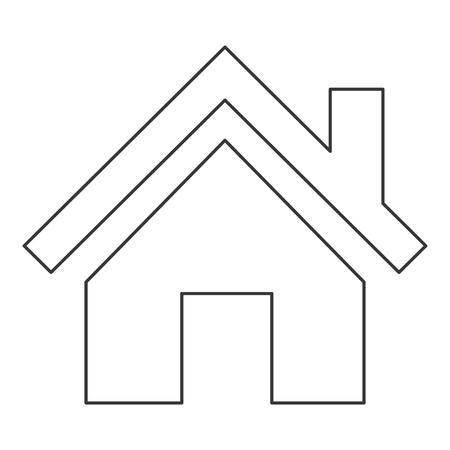 english village: flat design house pictogram icon vector illustration