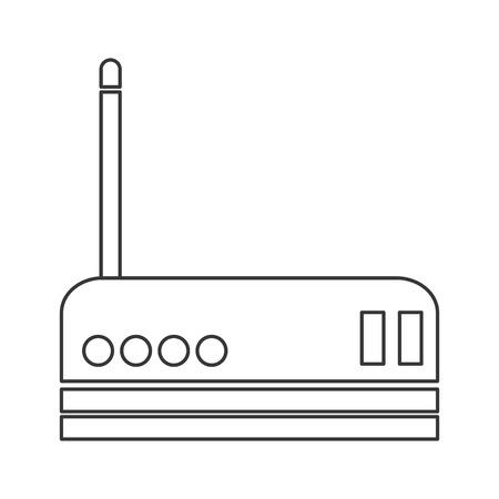adsl: flat design wifi router icon vector illustration