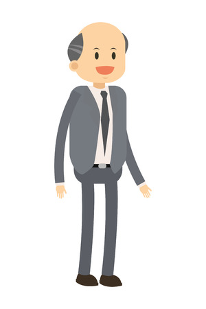 broadly: flat design happy businessman icon vector illustration
