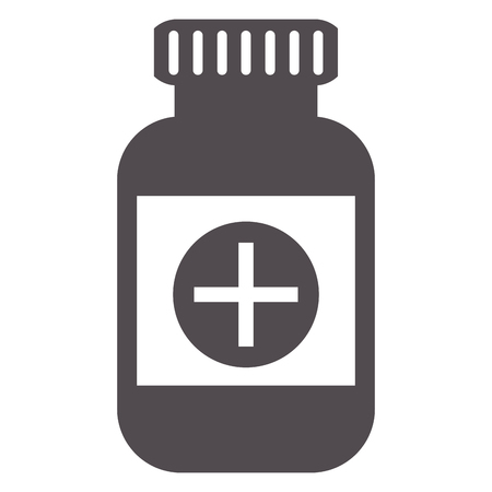 group therapy: flat design medicine bottle icon vector illustration