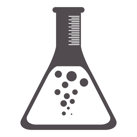 hypothesis: flat design test tube icon vector illustration Illustration