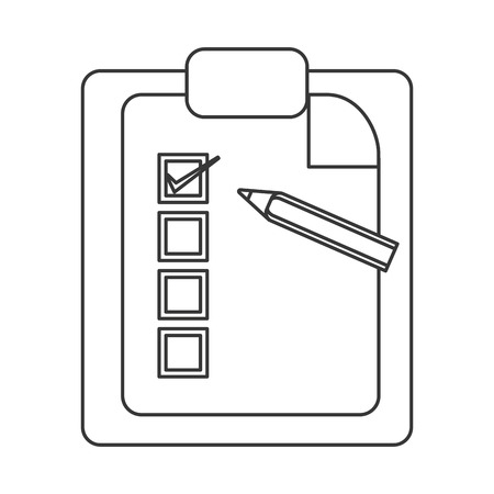 roster: flat design clipboard with pencil icon vector illustration