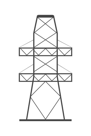 electricity providers: flat design electricity tower icon vector illustration Illustration