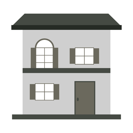 small house: flat design small house icon vector illustration Illustration