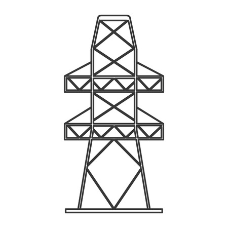 electric grid: flat design electricity tower icon vector illustration Illustration