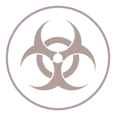 biological hazards: flat design bio hazard icon vector illustration