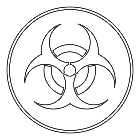 bio hazard: flat design bio hazard icon vector illustration