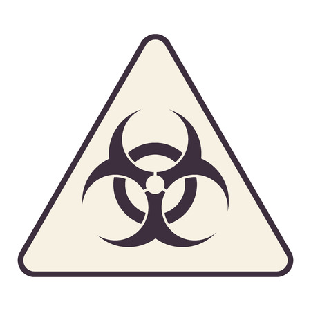 flat design bio hazard icon vector illustration