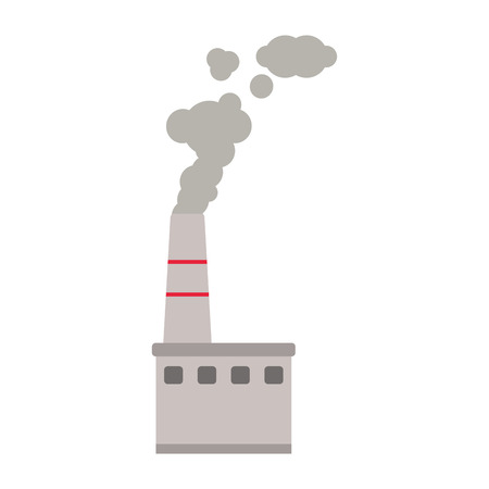 high damage: flat design factory chimney icon vector illustration Illustration