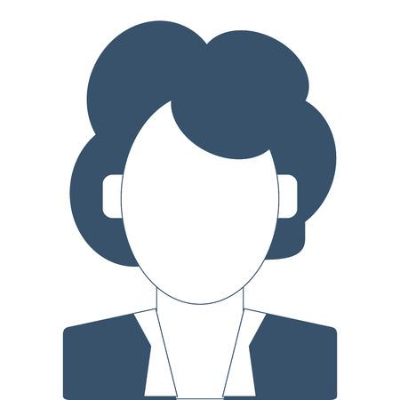 faceless: simple flat design faceless woman portrait icon vector illustration