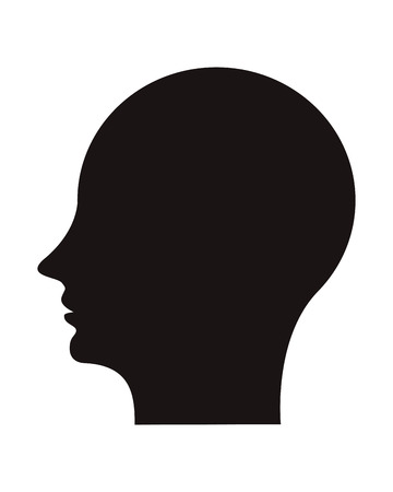 flat design human head profile icon vector illustration Illustration
