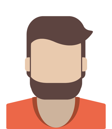 flat design faceless man portrait icon vector illustration