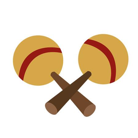 shekere: flat design pair of maracas icon vector illustration