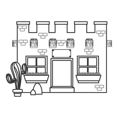 western wall: flat design old west bar icon vector illustration Illustration