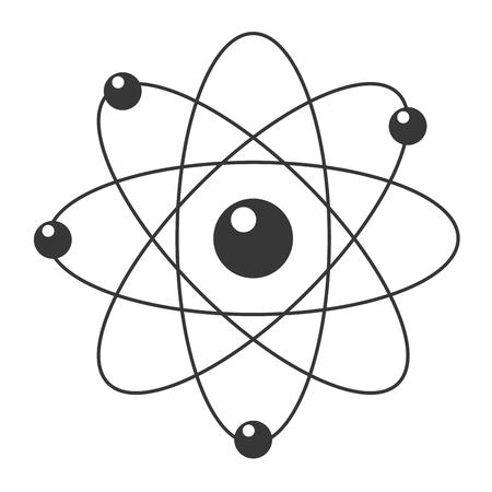 cartoon atom: flat design cartoon atom icon vector illustration