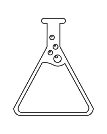 diseño plano tubo de ensayo icono de la ilustración del vector