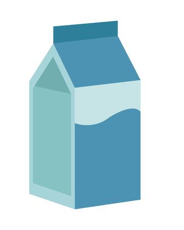 carton de leche: flat design milk carton icon vector illustration Vectores