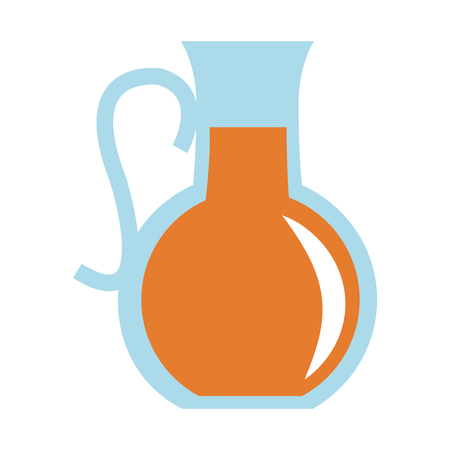 purified: flat design glass pitcher with beverage icon vector illustration Illustration
