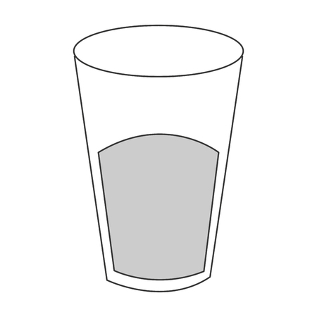 drinkware: flat design glass cup with liquid icon vector illustration