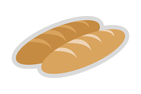 french toast: flat design whole bread icon vector illustration Illustration