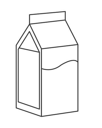 carton de leche: Ilustraci�n del icono del vector de cart�n plana dise�o de la leche